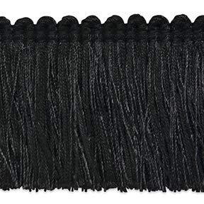 Brush Black Fringe (Alina Brush Fringe Trim Black)