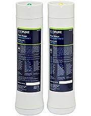 Ecopure ECODWF1 Pre/Post Repuesto para el Sistema de Filtro Doble ECOP20| Reducción de Plomo, Productos Químicos, y Cloro, Blanco