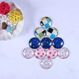 HAUTOCO 1.18 inch/30mm Round Glass Cabochons Clear