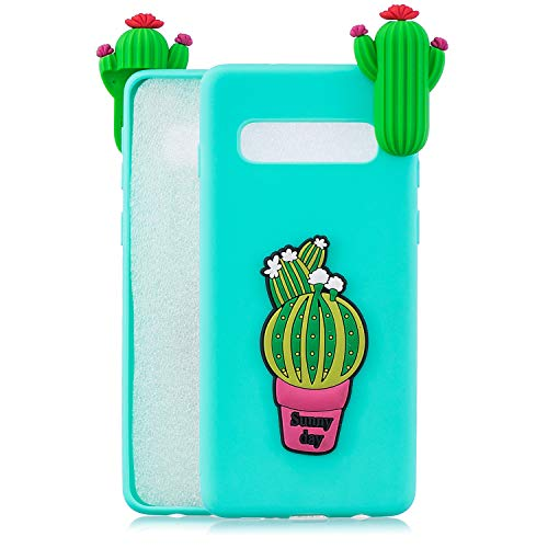 TPU Case for Samsung Galaxy S10,Moiky Funny 3D Cactus Design Ultra Thin Soft Silicone Resistant Back Cover Phone Case Unique Style Protect Case by MOIKY (Image #2)