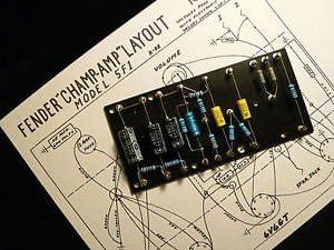 Jellyfish Audio - Placa de Torre para Amplificador Fender Champ 5E1 5F1 Tweed & Amplificadores de Guitarra DIY/Kit
