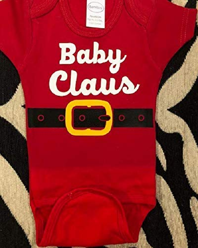 santa clause baby one piece Christmas infant bodysuit santa baby shirt