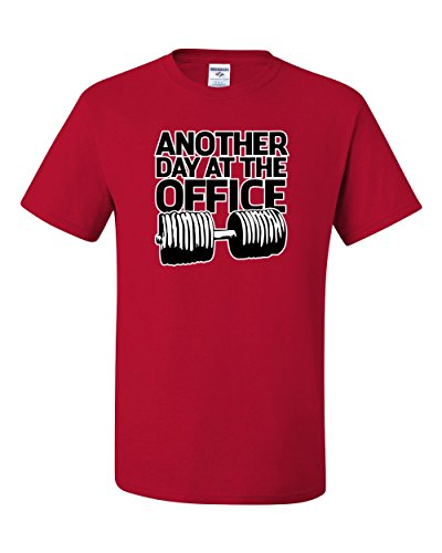 Another Day At The Office Gym Workout Funny Humor Tee Graphic Unisex T-Shirt - ( X-large, Red ) Another Name For Christmas Party