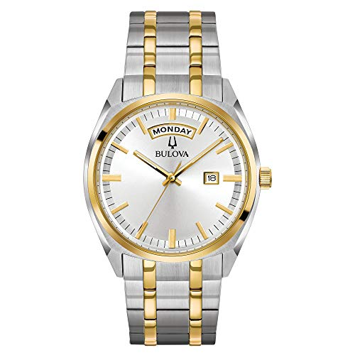 (Bulova Men's Classic Quartz Watch with Stainless-Steel Strap, Two Tone, 22 (Model: 98C127))