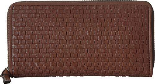 Cole Haan Women's Bethany Woven Leather Zip Around Wallet, sequoia (Cole Haan Medium Zip)