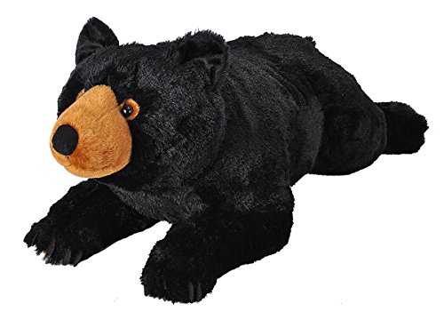 Wild Republic Jumbo Black Bear Plush, Giant Stuffed Animal, Plush Toy, Gifts for Kids, 30 Inches