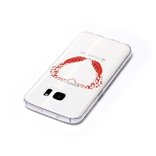 Funda iPhone 5/5S/SE,MAGQI Gel Suave de TPU Carcasa,Ultra Delgado Flexible Transparente Anti-Rasguño Anti-Golpes Bumper Protectora Case Cover para iPhone 5/5S/SE - Atrapasueños Amor corazon