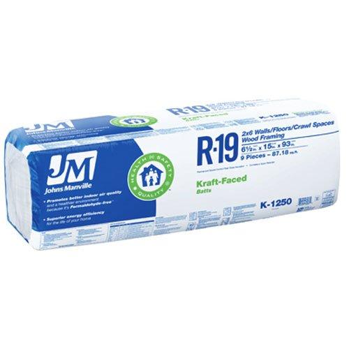 JOHNS MANVILLE INTL 90005453 R19 15'' x 93'' Kraft Battery