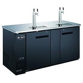 SABA 69″ Two Door Draft Beer Dispenser with 2 Tap Towers