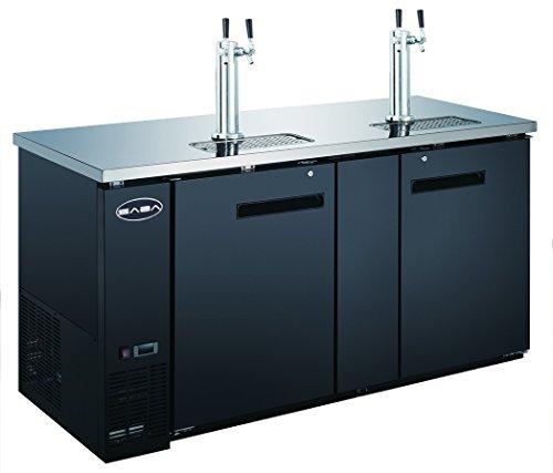 """SABA 69"""" Two Door Draft Beer Dispenser with 2 Tap Towers"""