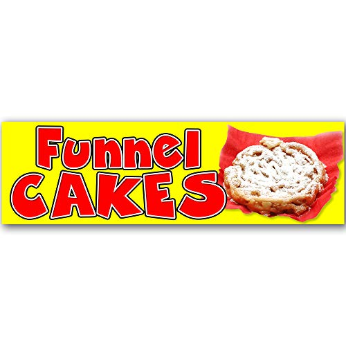Funnel Cakes Vinyl Banner 10 Feet Wide by 3 Feet Tall