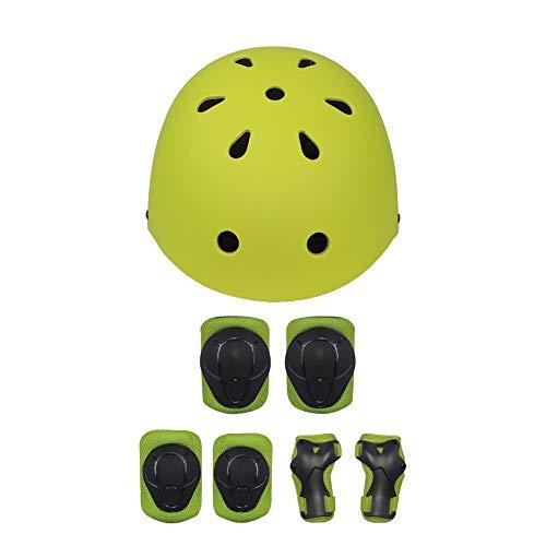 Deportes infantiles equipo de protección, 7 piezas deportivas equipo de seguridad ajustable niño casco rodilla codo pulsera...