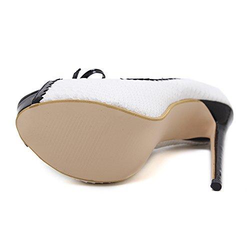 Zapatos para Mujer Peep Toe Extreme Plataforma De Tacón Alto Arco Poco  Profundo Fiesta De Boda Elegante Prom Sandalias  Amazon.es  Zapatos y  complementos 5c2768e70009
