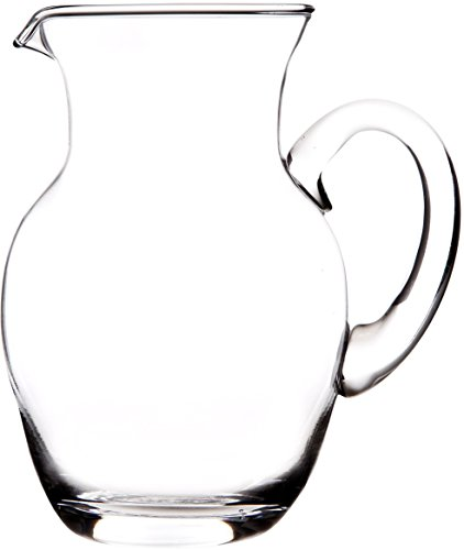 Elegant And Durable 38 Oz. Clear Glass Pitcher with Easy Pour Spout and Handle