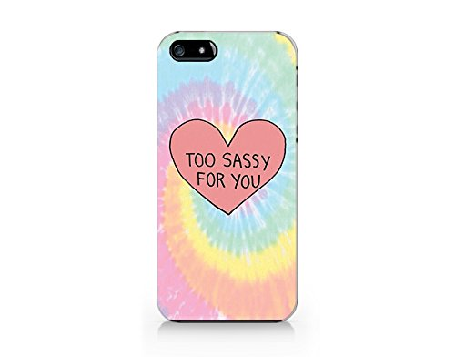 Tie Dye Too Sassy For You iphone 5 Case, iphone 5S Case Plastic Hard Case Unique Design-Quindyshop (NAM46) (5s Projector Iphone)