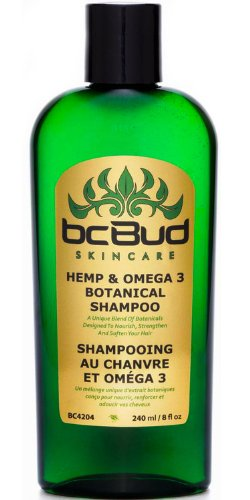 Hemp & Omega 3 Botanical Shampoo, Sulfate Free, SLS Free, for Itchy Scalp, Oily, Thinning, Color Treated Hair, Volumizing for Soft, Healthy, Shiny Hair, with Natural Hemp Seed Oil, Aloe, No Parabens