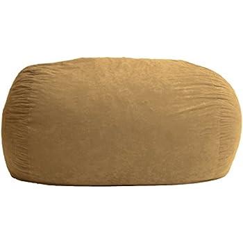 Amazing Big Joe Fuf Foam Filled Bean Bag Chair Sand Dune Comfort Suede Xl Inzonedesignstudio Interior Chair Design Inzonedesignstudiocom