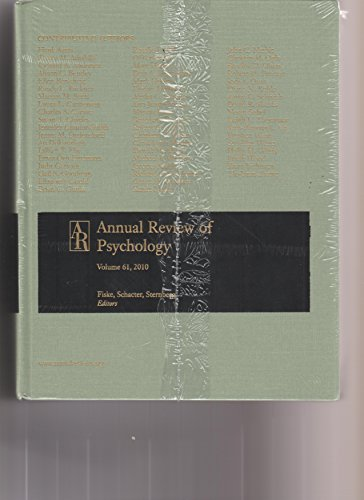 Annual Review of Psychology 2010: 61