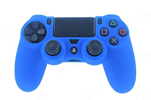 Microware PlayStation4 DualShock4 Controller Silicone Case Cover Sleeve Blue for PS4 Gamepad