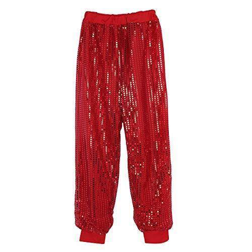 Agoky Womens Glitter Sequins Long Harem Hip Hop Dance Pants Hippie Boho Trousers Dancewear