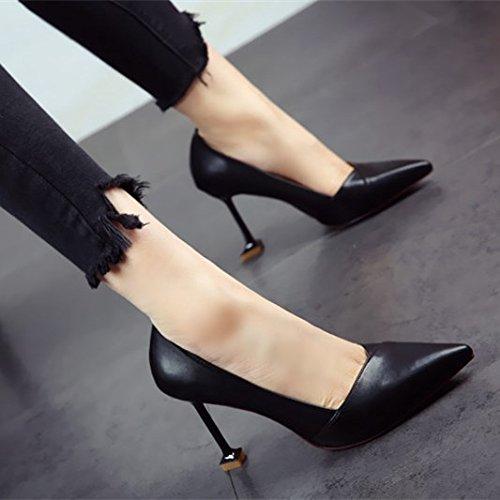 Señoras Zapatos Altos Flyrcx Y Solo Más Tacón De Finas Elegante Superficial B Tacones 4xZUZT
