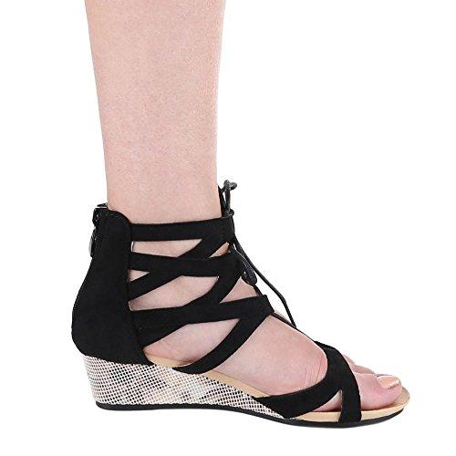 sandalias Negro negro Design mujer Ital xgw5q0H5z