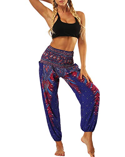 Hippy Donna Alta Yoga Harem Harem MISSMAOM 3 Boho donne Pantaloni Etnica Vita Pantaloni Grembiule Stile Harem Uomo Thai Pantaloni OnnEazpwq7