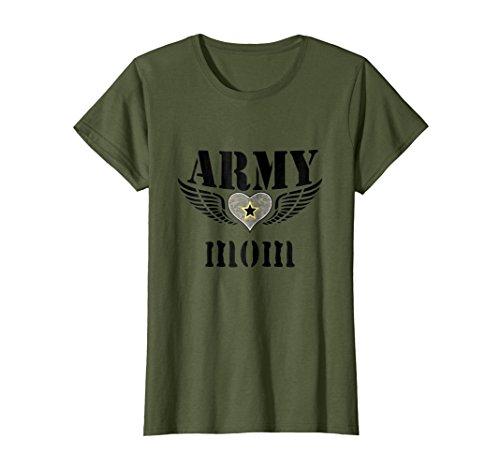 Womens PREMIUM Proud Army Mom Tshirt Military Tee Support XL Olive Army Mom Green T-shirt