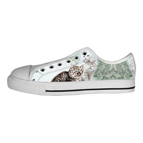 Custom Cats Painting Zapatos De Lona Para Mujer Los Cordones De Los Zapatos Zapatillas Altas