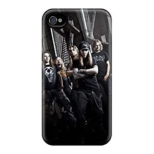 AnnaDubois Iphone 4/4s Anti-Scratch Cell-phone Hard Covers Provide Private Custom Vivid Children Of Bodom Band Image [SvK4584wvUB]