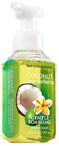 Bath and Body Works Signature Collection Coconut Lime Verbena Anti Bacterial Foaming Hand Soap! NEW (Verbena Foaming Bath)