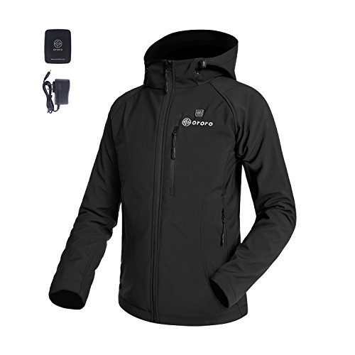 Price comparison product image ORORO Women's Slim-Fit Wireless Heated Jacket Kit with Battery& Charger (Medium, Black)