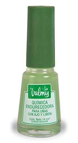 Valmy Lemon & Garlic Quimica Endurecedora - Nail Hardener and Whitening Polish Treatment (1 Unit) (Nail Polish That Makes Your Nails Grow)