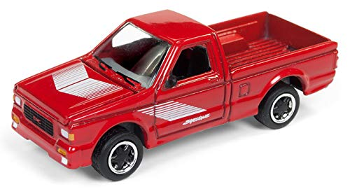 1991 GMC Syclone Pickup Truck Gloss Red 90's Muscle Limited Edition to 4,612 Pieces Worldwide 1/64 Diecast Model Car by Johnny Lightning JLMC014/ JLSP027 B