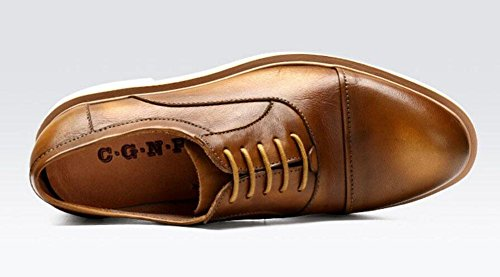 Männer Lace-Up Flats Oxford England Retro Schuhe Business Casual Schuhe Leder High Quality Lace Schuhe Rot Schwarz Khaki , khaki , 40