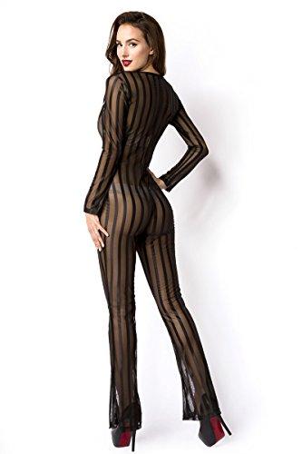 Angies Fashion Femme Schwarz Salopette Glamour 6Xr1wq6