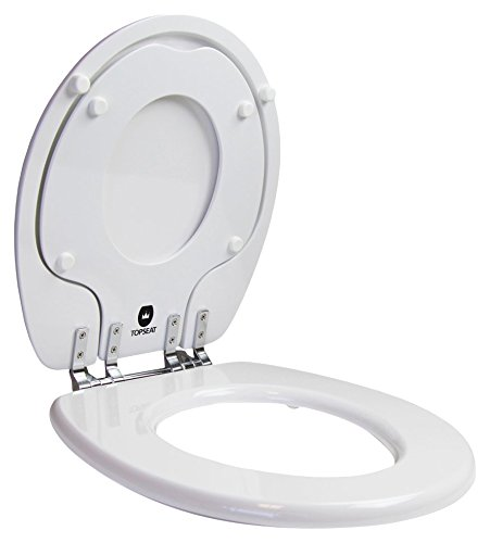 6TSTR9999CP 000 TinyHiney Round Toilet Seat with Metal Hinges, White