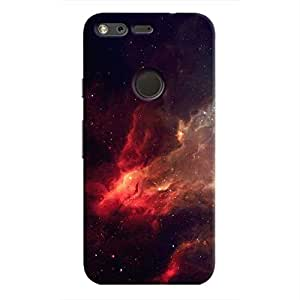 Cover It Up - Red space Cloud Pixel Hard case