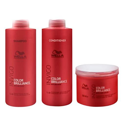Kit Shampoo Condicionador e Mascara Wella Collor Brilliance Invigo