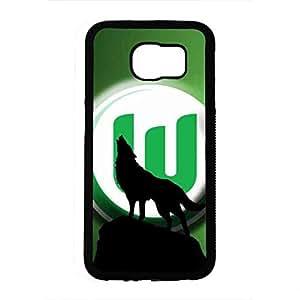 Phone Caja del teléfono celular Funda for Samsung Galaxy S6 Hard Protection Cover Caja del teléfono celular Funda for Wolfsburg Classic VfL Wolfsburg Caja del teléfono celular Funda Skin