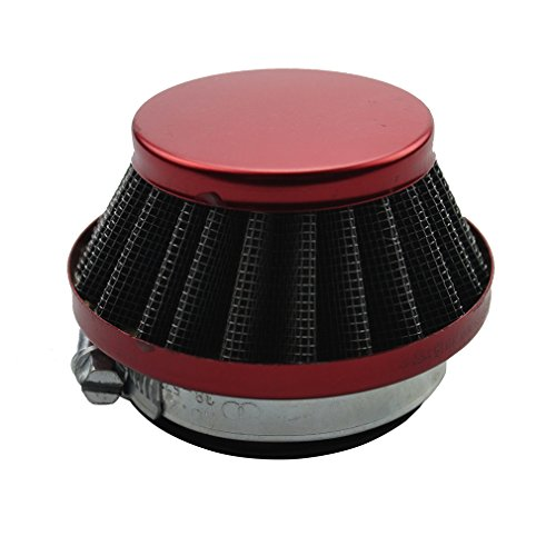 GOOFIT 42-44mm Red Air Filter for 2 Stroke 47cc 49cc ATV Pocket Bike Mini Quad (Stroke Filter Motorcycle 2 Air)