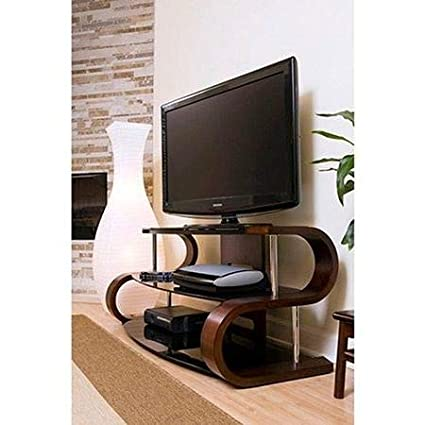 Amazon.com: TV Stands Table Cabinet-Brown Tempered Glass for ...