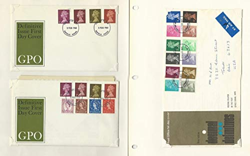 Great Britain Stamp Collection on 20 Pages, Covers, Mostly Machin Heads