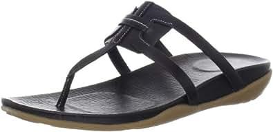 Rockport Women's Trujoris Interwoven Thong Sandal,Black,7.5 M US