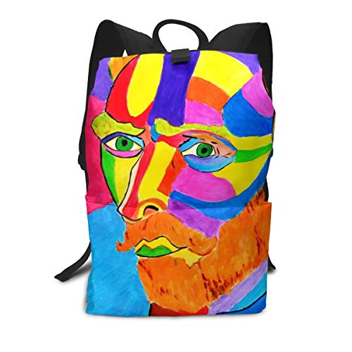 Van Gogh Portrait Color Handsome Mini Cute Lightweight Women Themed Mini Bookbag Teens School Backpack Bookbags College Bags Satchel Travel Book Bag Daypack
