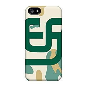 Durable Defender Case For Iphone 5/5s Tpu Cover(san Diego Padres)