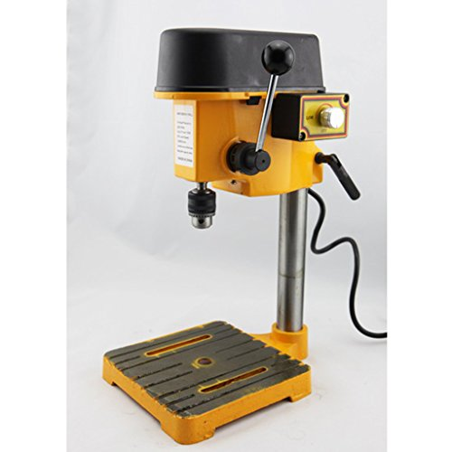 Wotefusi Drill Press Mini Bench Top 6mm B10 Stepless Speed Regulation Fully Adjustable Cutter Machine Cutting Tool 110V for Wood Working by Wotefusi