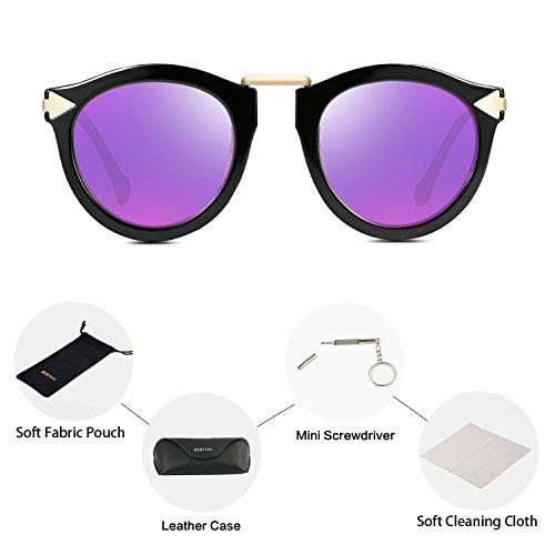 Bertha Fashion Designer Round Polarized Sunglasses for Women 68240 - Sunglasses Pugs Polarized