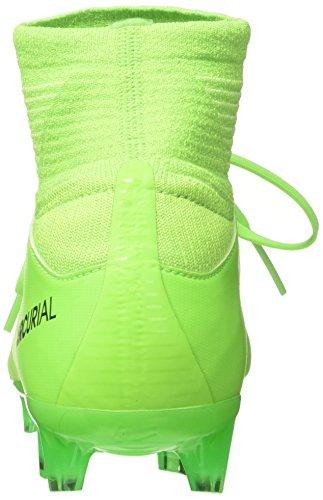 NIKE Kids Mercurial Superfly V FG Electric Green/Black/Flash Lime Soccer Shoes - 4Y - Image 2