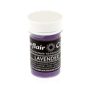 Amazon.com : Sugarflair LAVENDER PURPLE Pastel Paste Gel ...